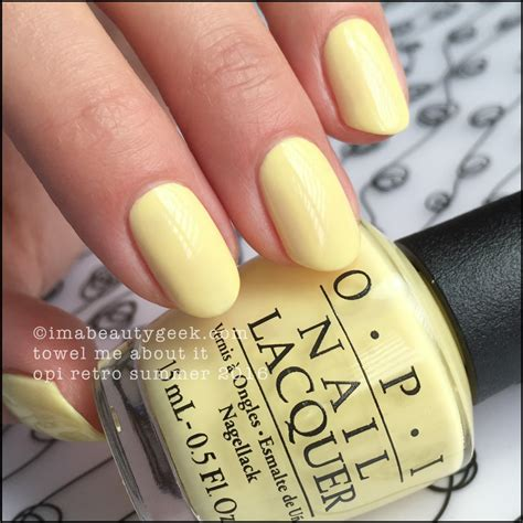 light yellow nail polish opi retro summer 2016 complete manigeek guide beautygeeks