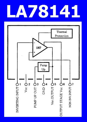 la pinout vertical deflection output ic
