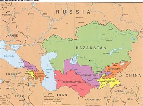 central asia physical map pin maps of russia and the republics on
