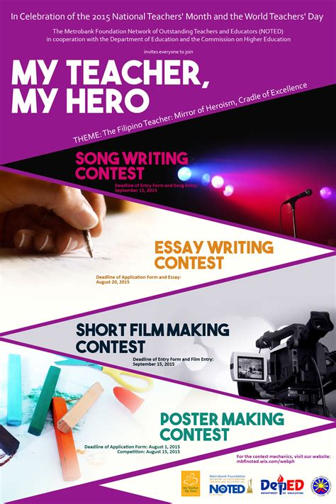 design competition mechanics 2015 national teachers month noted song writing contest