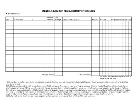 doc 585666 sle expense reimbursement form 8 download