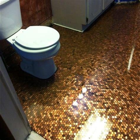 diy bathroom flooring ideas homestartx com eye catching home decoration ideas using pennies