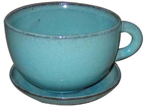 Coffee Cup Planter by Large Coffee Cup Planter In Green With Saucer Pool