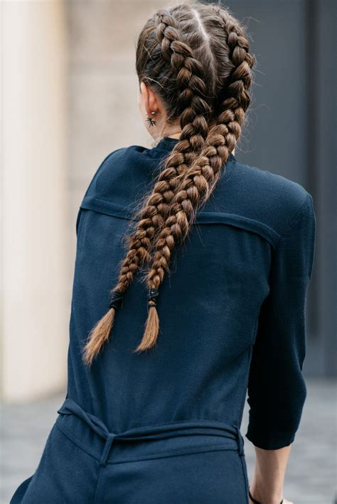fashion icon plaited hair double french plaits boxer braids plaits and copenhagen