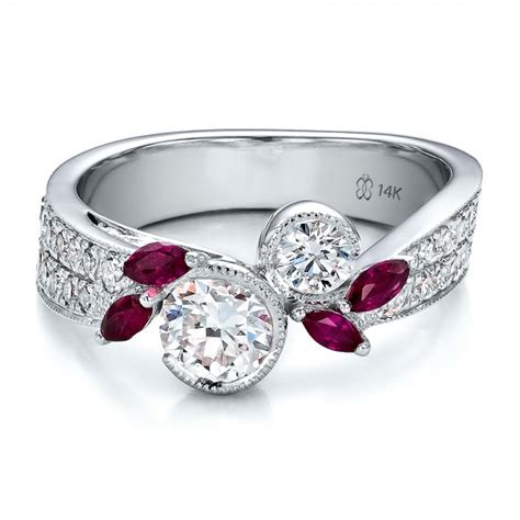 custom marquise ruby and engagement ring 100138