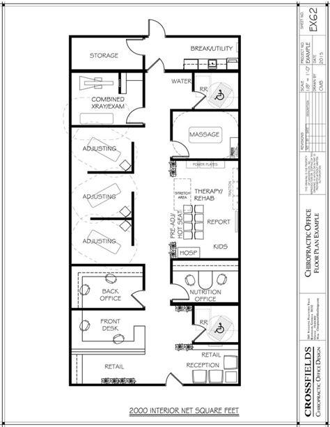 chiropractic clinic floor plans open therapy area with massage room chiropractic floor