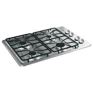 Stainless Steel Gas Cooktop Shop Ge 4 Burner Gas Cooktop Stainless Steel Common 30