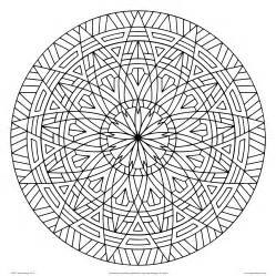 geometric designs to color free coloring pages of circular patterns