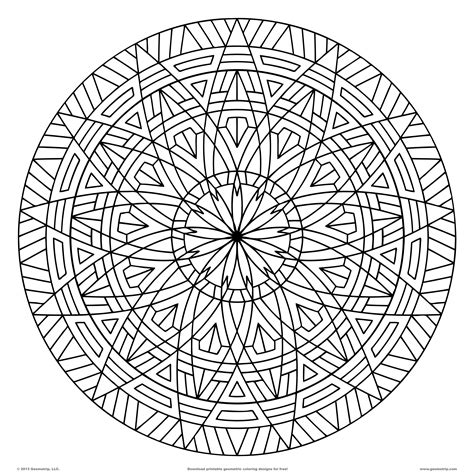 printable coloring pages geometric patterns free coloring pages of circular patterns