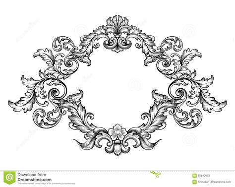 baroque pattern frame https thumbs dreamstime com z vintage baroque victorian