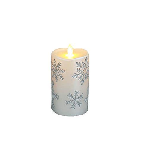 mirage 5 flameless led flickering real wax pillar