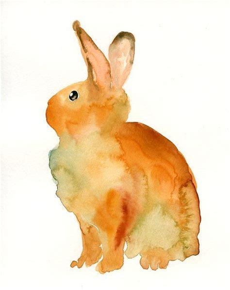 watercolor rabbit tutorial bunny original watercolor painting 8x10inch watercolour