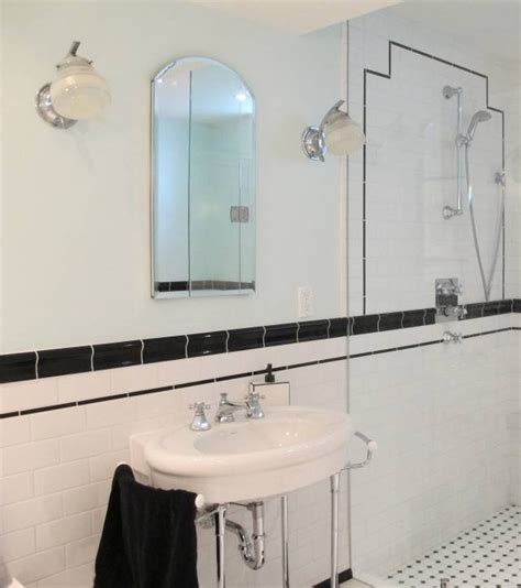20 collection of deco style bathroom mirrors