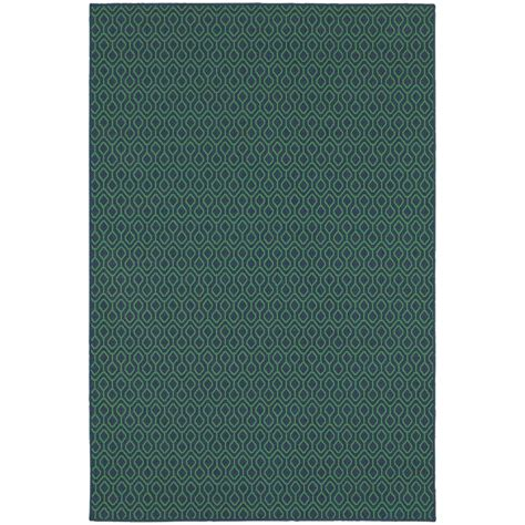 navy and green rug home decorators collection waves navy green 6 ft 7 in x 9 ft 6 in indoor outdoor area rug