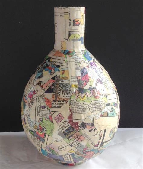 Paper Mache Decoupage - decoupage napkins on paper mache vases hometalk