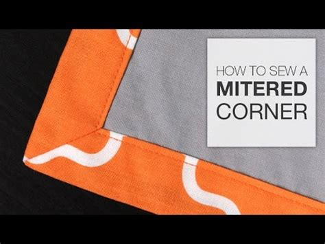 upholstery how to do corners how to sew a mitered corner youtube