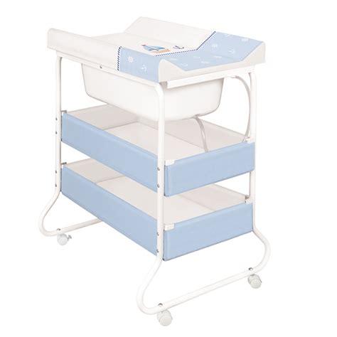 badewanne mit gestell wickeltisch baby badewanne gestell yacht blau ebay
