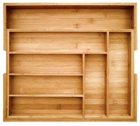 Expandable Bamboo Drawer Organizer by New Bamboo Expandable Utility Drawer Organizer Kitchen