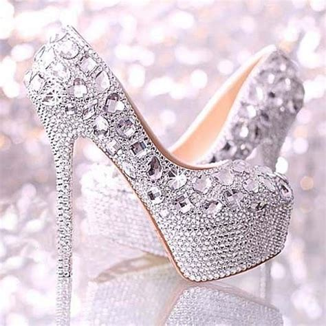 Sparkly Wedding Shoes by Sparkly Silver Handmade Bead Rhinestone Wedding