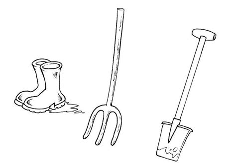 coloring book review pitchfork coloring page boots shovel pitchfork img 10378
