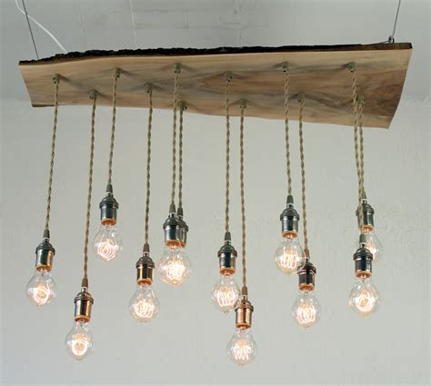 Chandelier Edison Bulbs Salvaged Live Edge Wood Chandelier With Edison Bulbs