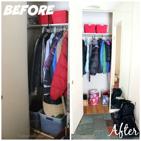 31 days of decluttering day 12 coat closet