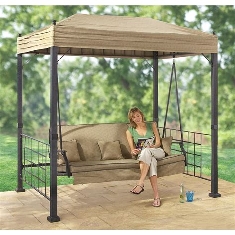 gazebo swing set sydney gazebo swing 138442 patio furniture at sportsman