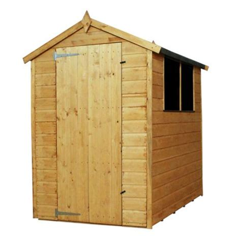 Tesco Shed buy mercia shiplap apex wooden shed 6x4ft from our wooden sheds range tesco