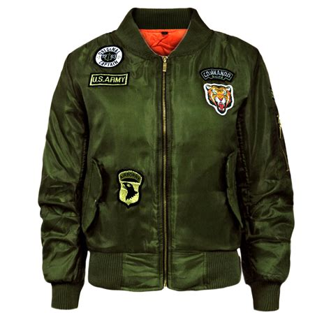 army pattern bomber jacket new kids children us army airforce ma1 flight pilot bomber