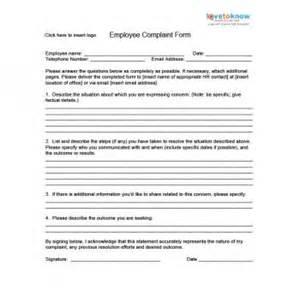 employee complaint template employee complaint form thebridgesummit co