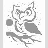 Owl Pumpkin Stencils | 460 x 530 gif 18kB