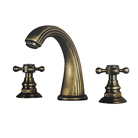 polished brass finish brass bathroom sink faucet