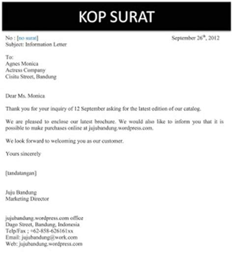 surat balasan bisnis dalam bahasa inggris bisnis
