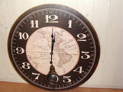 large black framed world map wall clock chicy rachael