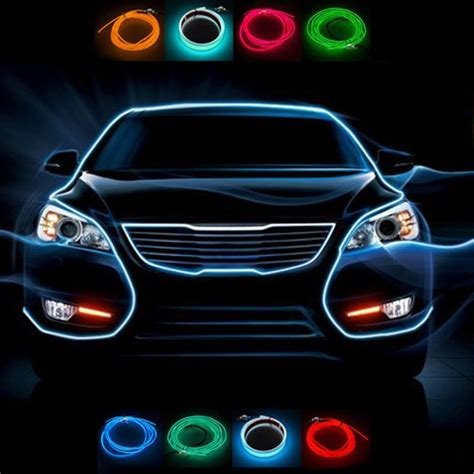 Color Interior Lights For Cars by New 9 Colors Automotive Interior Refit Atmosphere Light