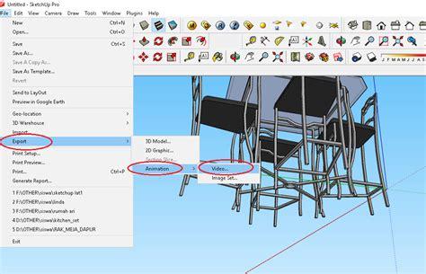 tutorial sketchup animasi cara membuat animasi kamera pada sketchup tempat kursus