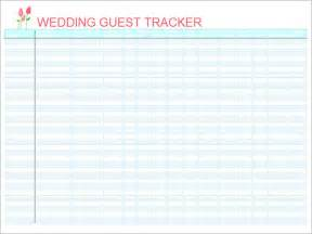 wedding guest list template excel sle wedding guest list template 15 free documents in
