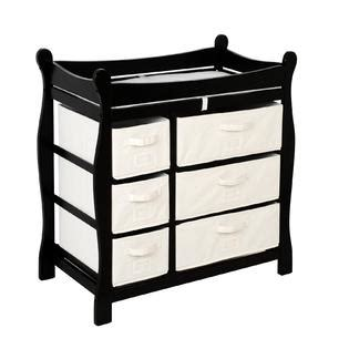 Badger Basket Baby Changing Table With Six Baskets Badger Basket Black Sleigh Style Changing Table With Six Baskets Baby Baby Furniture