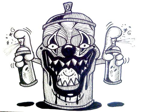 spray paint drawing how to draw spray can clown cool drawing for