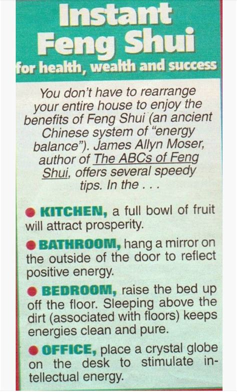 feng shui health instant feng shui for health wealth success exploring