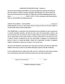 indemnity letter template agreement of indemnity form