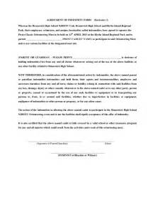 Indemnity Agreement Template Agreement Of Indemnity Form