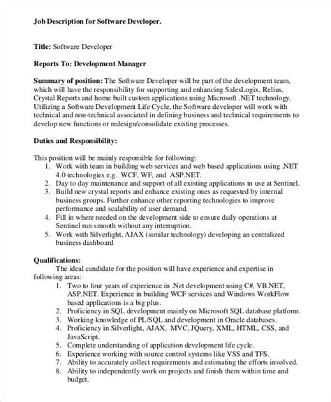 Software Engineering Manager Description software engineer description description for application support description for
