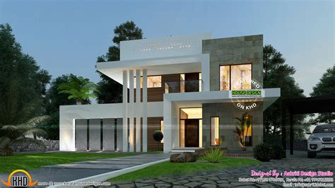 3 Bedroom Contemporary House Plans by September 2015 Kerala Home Design And Floor Plans