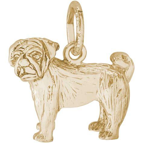 sabo pug charm rembrandt pug charm gold plated silver precious accents ltd