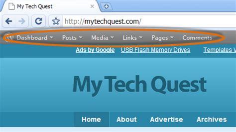 wordpress top bar plugin display wordpress admin toolbar on your blog for quick