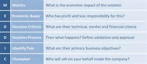your meddic sales process checklist