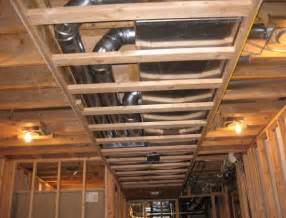 framing basement ceiling ductwork remarkable bathroom
