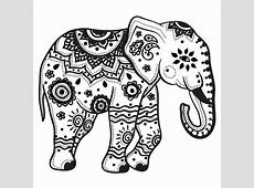 9+ Elephant Tribal Tattoo Designs And Pictures Indian Elephant Henna Drawing