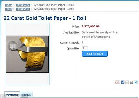 golden waste loo paper    carat gold   sale   ynaija